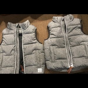 Toddler boys vests, with hood